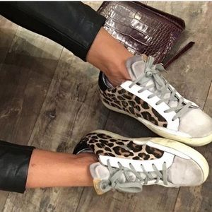 Golden Goose Leopard Superstars Size 40